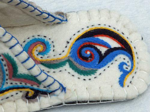 Detail Innen blau